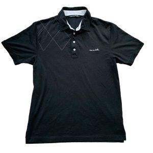 EUC Travis Mathew Golf Polo. Black. Medium.